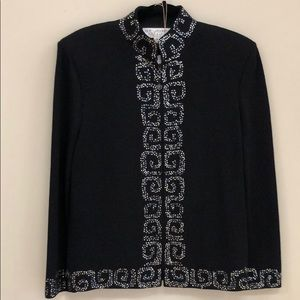 St John Evening Black Rhinestone Jacket